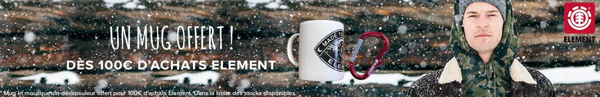 Mug offert pour 80€ d'achats Element !