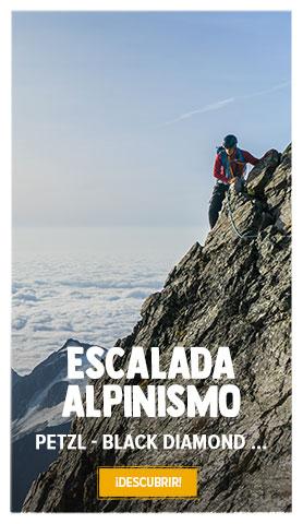 Descubre Escalada/Alpinismo : Petzl, Black Diamond, Beal, Scarpa...