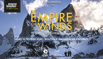 Projection Empire of Winds à la boutique de Snowleader - inscription