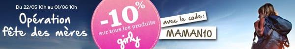 10% sur tous les produits girly ! sans conditions !