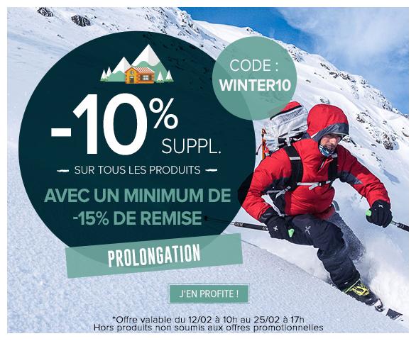 Prolongation ! -10% supplémentaires sur tous les produits avec un minimum de remise de -15%