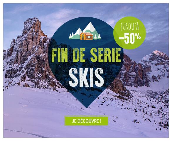 Découvrez toutes nos fins de séries sur le matos de skis !
