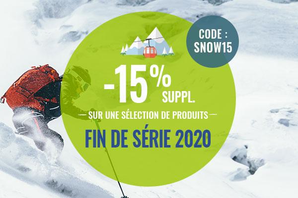Profitez de -15% de remise sur une sélection de produits Fin de série ski