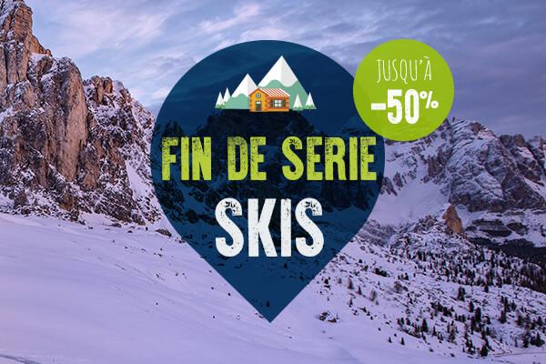 Fin de série matériel ski, jusqu'à 50%!