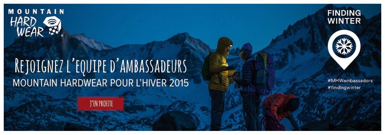 Rejoignez l'équipe d'ambassadeurs Mountain Hardwear !