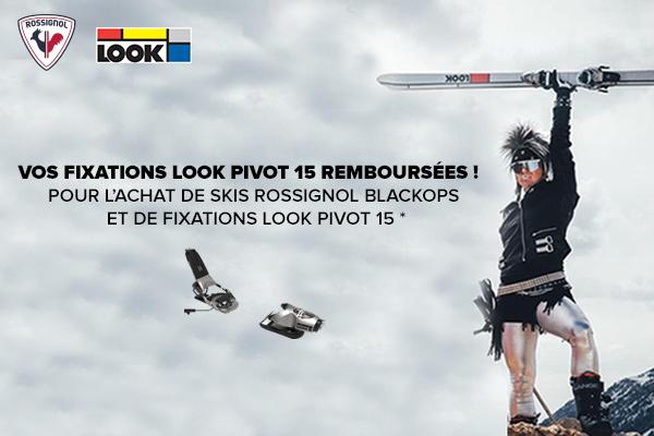Vos fixations Look Pivot 15 remboursées, pour l'achat de skis Rossignol Blackops et de fixations Look Pivot 15 !