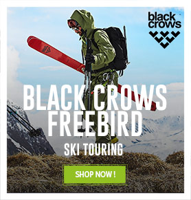 Come discover Freebird collection of Black Crows to Ski Touring