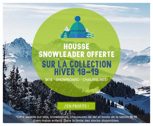 Housse Snowleader offerte sur la collection 18-19!