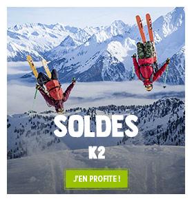 C'est les soldes Chez K2 ! Profitez de promotions jusqu'à -50% sur les produits de la marque
