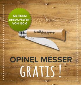 Opinel Messer ab 150€ Einkaufswert gratis