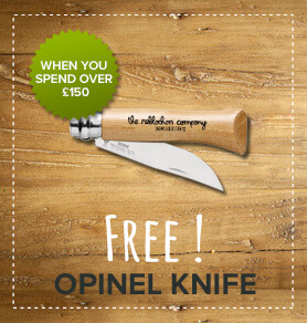 Free Opinel knife when you spend over £150