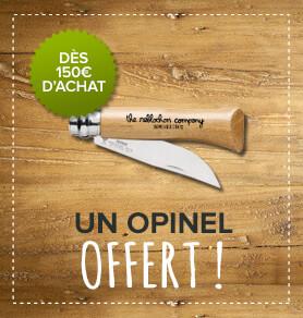 Un Opinel offert dès 150€d'achat !