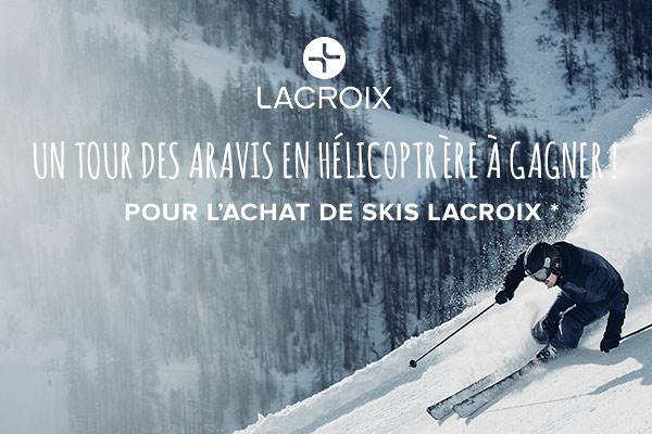 Un tour des Aravis en hélicoptère à gagner pour l'achat d'une paire de skis Lacroix !