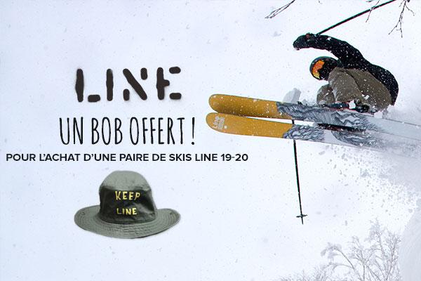 Un bob Line offert avec vos skis de la nouvelle collection!