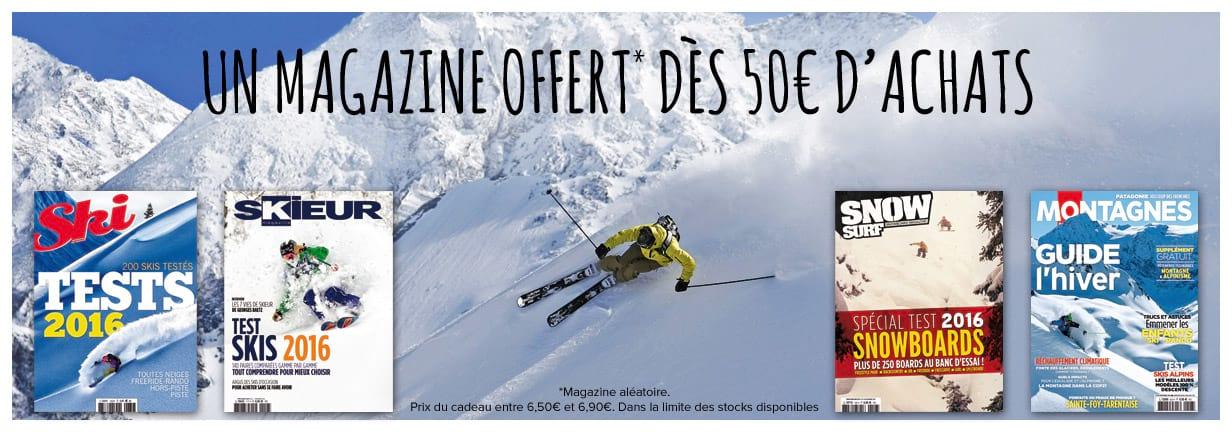 Un magazine offert dès 50€ d'achats !