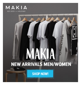 Discover Makia Men's and Women's Clothes: T-shirts, Hoodies, Caps...