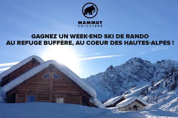 Un weekend ski de rando au refuge Buffère à gagner pour l'achat d'un produit Safety