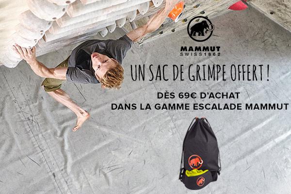 Un sac de sport offert dès 69€ d'achat sur la gamme escalade Mammut !