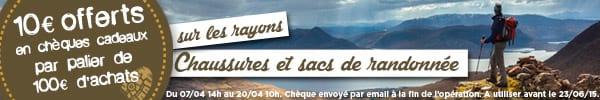 10€ offerts en chèques cadeaux par palier de 100€ d'achats