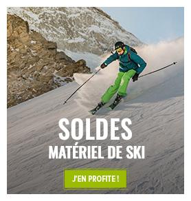 C'est les sur le rayon matériel de ski ! Profitez de promotions jusqu'à -60% !