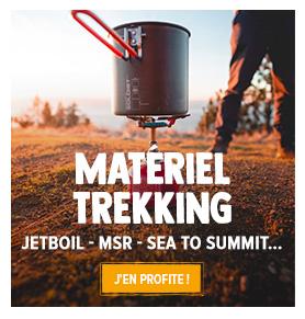 Découvrez le rayon materiel de trekking : Réchauds, Matelas, Sacs de rangement...