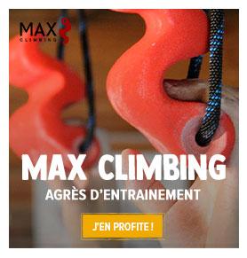 Entrainez-vous à la maison pour vos prochaines sessions d'escalade grâce aux agrès d'entrainement MAX CLIMBING !