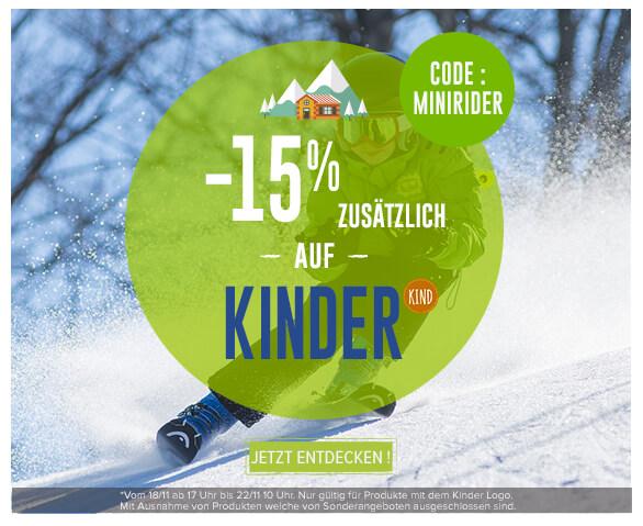 -15% zusätlich auf alle produkte für kinder