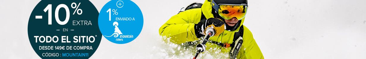 ¡ -10% extra en todo el sitio desde 149€ de compra ! ¡ +1% enviado a Mountain Riders !