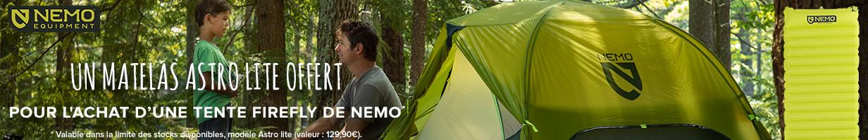 Un matelas ultra light offert pour l'achat d'une tente Nemo !