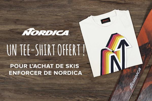 Un tee-shirt vintage offert pour l'achats de skis Enforcer de Nordica !