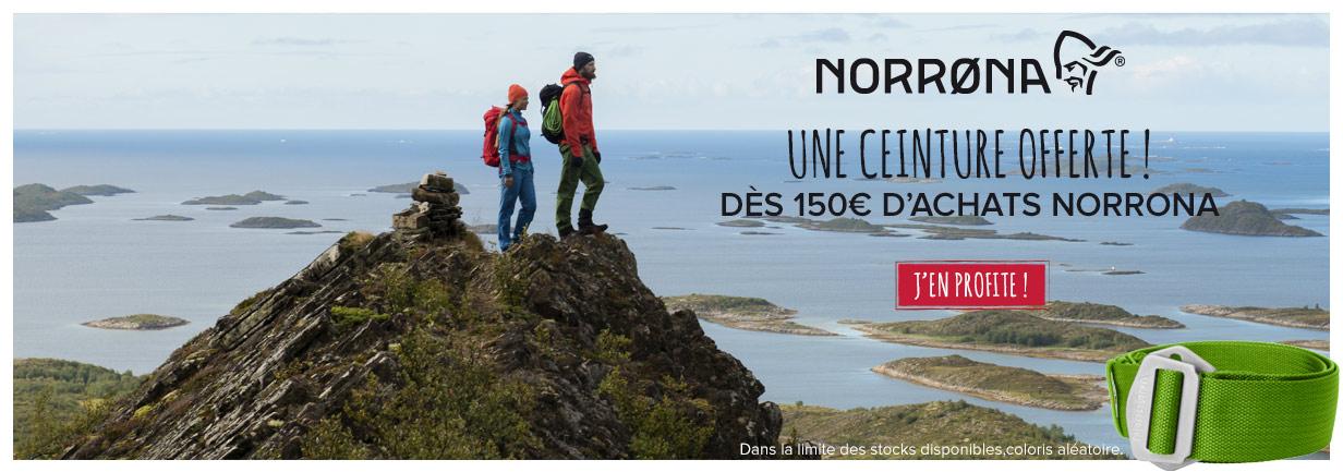 Une ceinture offerte dès 150€ d'achats Norrona !
