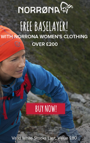 Free baselayer with Norrona Women's Clothing over £200