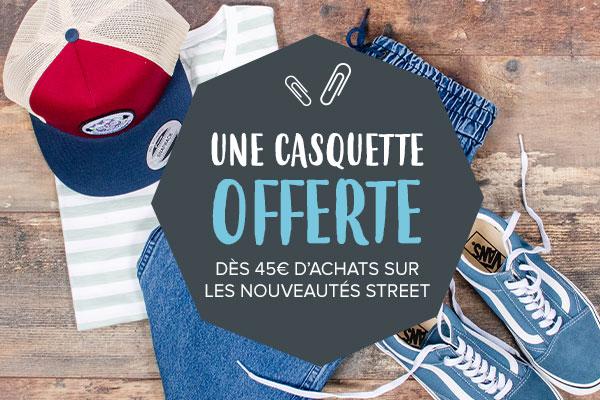 Une casquette Snowleader offerte dès 45€ d'achat sur les nouveautés Street !
