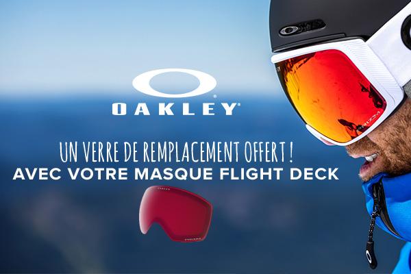 Oakley : Un verre de remplacement offert !