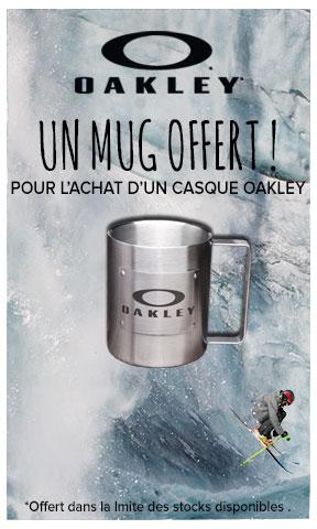 Un mug offert pour l'achat d'un casque Oakley !