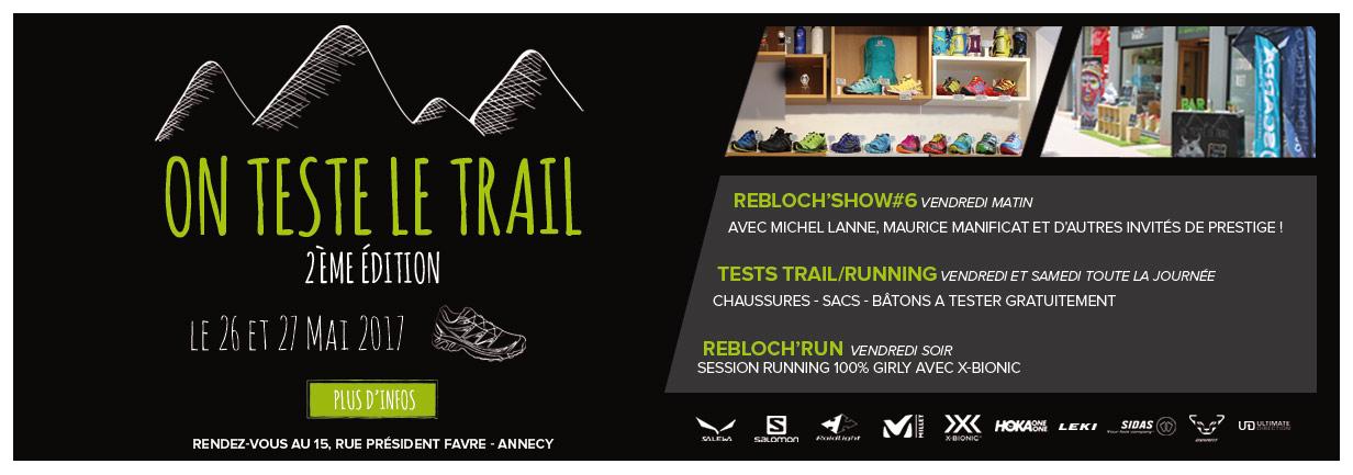 Rejoignez nous pour tester le trail à Annecy !