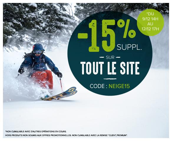 -15% supplémentaires sur tout le site !