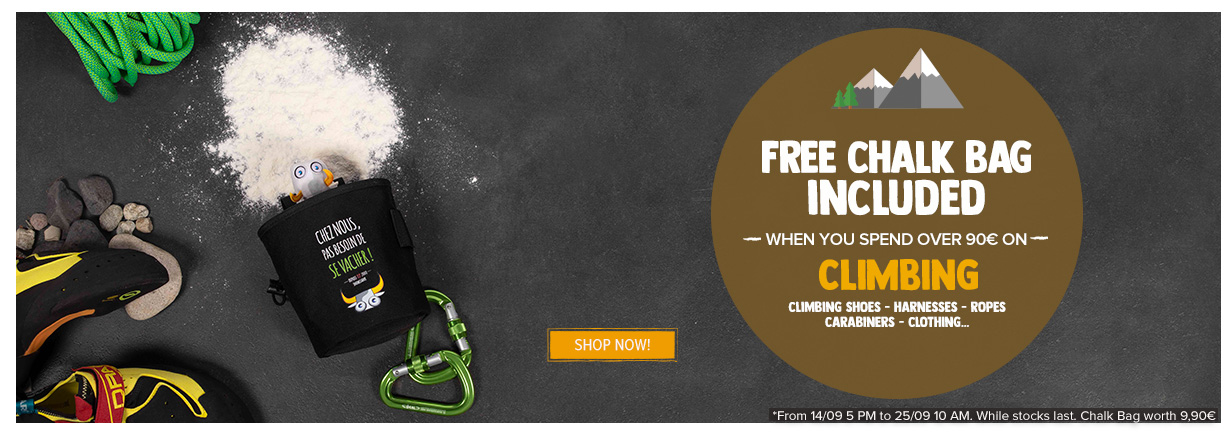 Free Chalk Bag Included when you spend over 90€ on Climbing