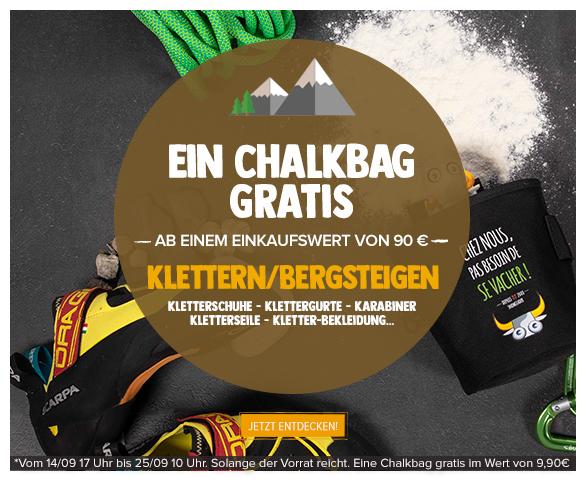 Ein Chalkbag gratis ab einem Einkaufswert von 90€ Klettern/Bergsteigen