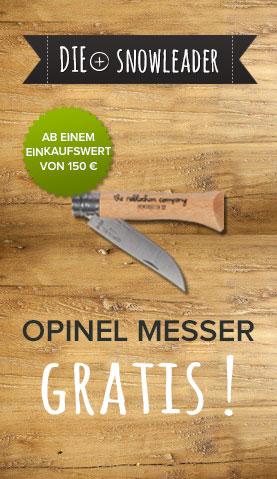 Ein Opinel Messer gratis  ab einem Einkaufswert von 150 € !