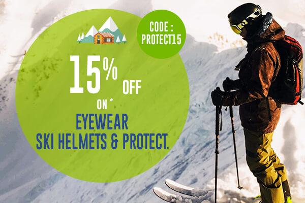 -15% off on all Eyewear and ski Helmet products !