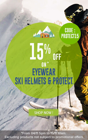 15% off on Eyewear and Ski Helmets products !