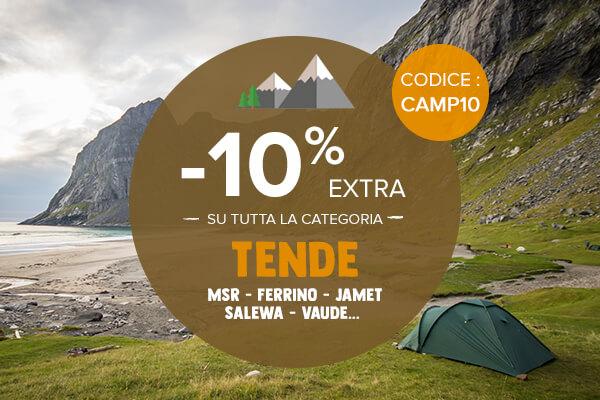 -10% extra su tutta la categoria Tende : Msr, Jamet, Ferrino…