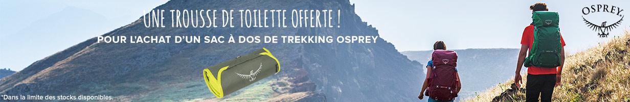 Une trousse de toilette offerte pour l'achat d'un sac à dos de trekking Osprey !