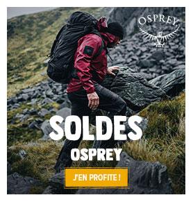 C'est les soldes Chez Osprey ! Profitez de promotions jusqu'à -50% sur les produits de la marque