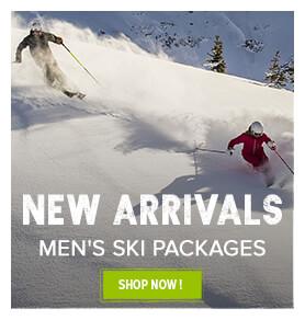 New arrivals, men's ski packages !