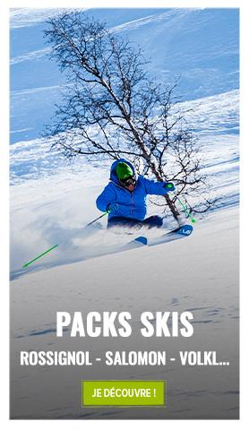 Découvrez notre rayon packs skis : Salomon, Rossignol, Black Crows...