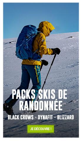 Profitez de nos packs de skis de randonnée : Black Crows, Dynafit, Blizzard…