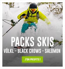 Profitez de nos packs de skis : Völkl, Black Crows, Salomon…