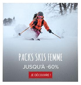 Packs skis femme jusqu'à -60% !